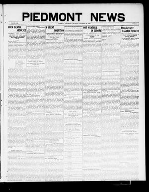 Primary view of object titled 'Piedmont News (Piedmont, Okla.), Vol. 1, No. 49, Ed. 1 Thursday, December 30, 1909'.