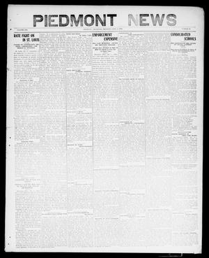 Primary view of object titled 'Piedmont News (Piedmont, Okla.), Vol. 1, No. 50, Ed. 1 Thursday, January 6, 1910'.