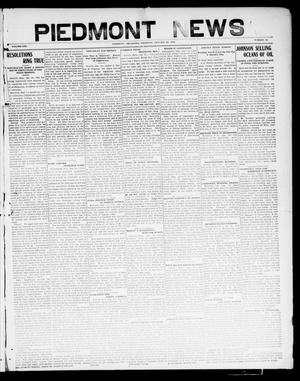 Primary view of object titled 'Piedmont News (Piedmont, Okla.), Vol. 1, No. 52, Ed. 1 Thursday, January 20, 1910'.