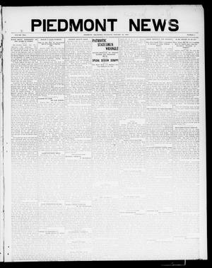 Primary view of object titled 'Piedmont News (Piedmont, Okla.), Vol. 2, No. 1, Ed. 1 Thursday, January 27, 1910'.