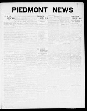 Primary view of object titled 'Piedmont News (Piedmont, Okla.), Vol. 2, No. 3, Ed. 1 Thursday, February 10, 1910'.