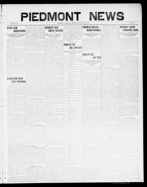Primary view of object titled 'Piedmont News (Piedmont, Okla.), Vol. 2, No. 4, Ed. 1 Thursday, February 17, 1910'.