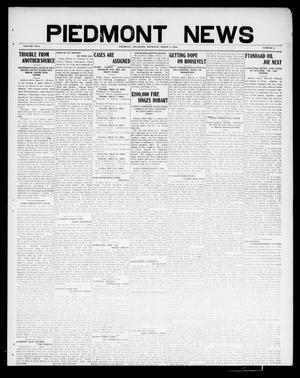 Primary view of object titled 'Piedmont News (Piedmont, Okla.), Vol. 2, No. 6, Ed. 1 Thursday, March 3, 1910'.