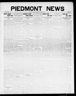 Primary view of object titled 'Piedmont News (Piedmont, Okla.), Vol. 2, No. 7, Ed. 1 Thursday, March 10, 1910'.