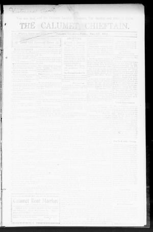 Primary view of object titled 'The Calumet Chieftain. (Calumet, Okla.), Vol. 4, No. 24, Ed. 1 Friday, December 27, 1912'.