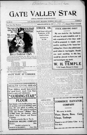 Primary view of Gate Valley Star (Gate, Okla.), Vol. 11, No. 42, Ed. 1 Thursday, January 11, 1917