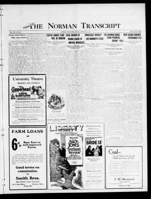 Primary view of object titled 'The Norman Transcript (Norman, Okla.), Vol. 8, No. 212, Ed. 1 Sunday, January 16, 1921'.