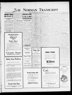 Primary view of object titled 'The Norman Transcript (Norman, Okla.), Vol. 8, No. 213, Ed. 1 Tuesday, January 18, 1921'.
