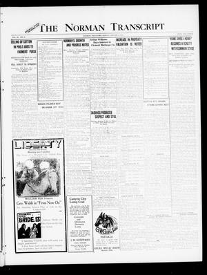 Primary view of object titled 'The Norman Transcript (Norman, Okla.), Vol. 9, No. 10, Ed. 1 Sunday, January 23, 1921'.