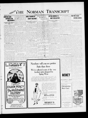 Primary view of object titled 'The Norman Transcript (Norman, Okla.), Vol. 9, No. 13, Ed. 1 Sunday, January 30, 1921'.