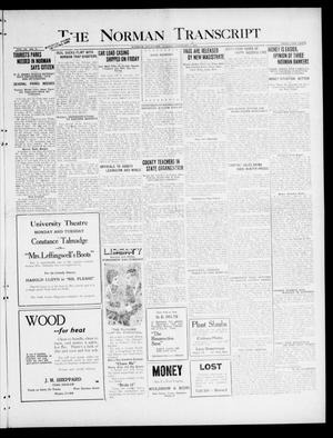 Primary view of object titled 'The Norman Transcript (Norman, Okla.), Vol. 9, No. 16, Ed. 1 Sunday, February 6, 1921'.