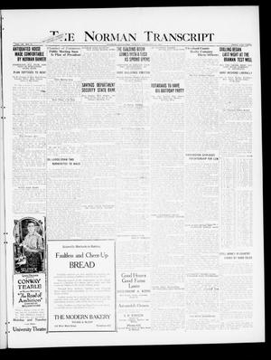 Primary view of object titled 'The Norman Transcript (Norman, Okla.), Vol. 9, No. 19, Ed. 1 Sunday, February 13, 1921'.