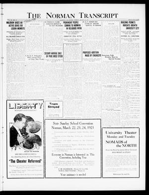 Primary view of object titled 'The Norman Transcript (Norman, Okla.), Vol. 9, No. 34, Ed. 1 Sunday, March 20, 1921'.