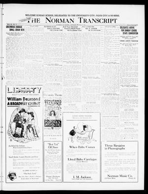 Primary view of object titled 'The Norman Transcript (Norman, Okla.), Vol. 9, No. 35, Ed. 1 Tuesday, March 22, 1921'.