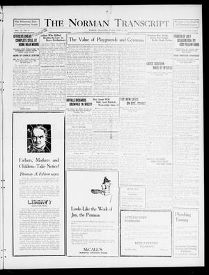 Primary view of object titled 'The Norman Transcript (Norman, Okla.), Vol. 9, No. 73, Ed. 1 Sunday, June 19, 1921'.