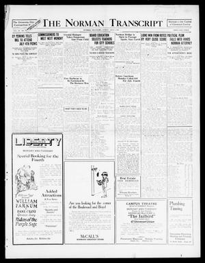 Primary view of object titled 'The Norman Transcript (Norman, Okla.), Vol. 9, No. 79, Ed. 1 Sunday, July 3, 1921'.