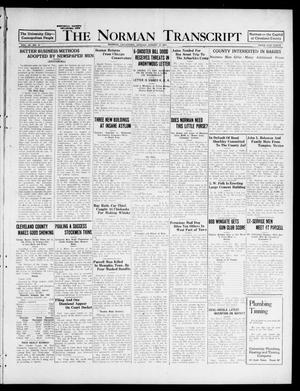 Primary view of object titled 'The Norman Transcript (Norman, Okla.), Vol. 9, No. 97, Ed. 1 Sunday, August 14, 1921'.