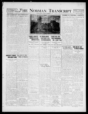 Primary view of object titled 'The Norman Transcript (Norman, Okla.), Vol. 9, No. 106, Ed. 1 Sunday, September 4, 1921'.