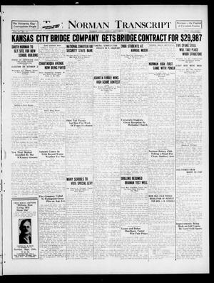 Primary view of object titled 'The Norman Transcript (Norman, Okla.), Vol. 9, No. 115, Ed. 1 Sunday, September 25, 1921'.