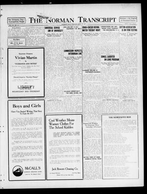 Primary view of object titled 'The Norman Transcript (Norman, Okla.), Vol. 9, No. 116, Ed. 1 Tuesday, September 27, 1921'.