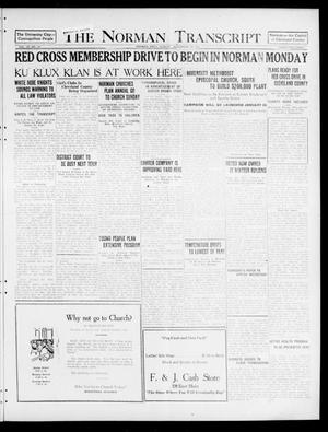 Primary view of object titled 'The Norman Transcript (Norman, Okla.), Vol. 9, No. 139, Ed. 1 Sunday, November 20, 1921'.