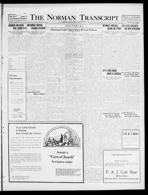 Primary view of object titled 'The Norman Transcript (Norman, Okla.), Vol. 9, No. 142, Ed. 1 Sunday, November 27, 1921'.