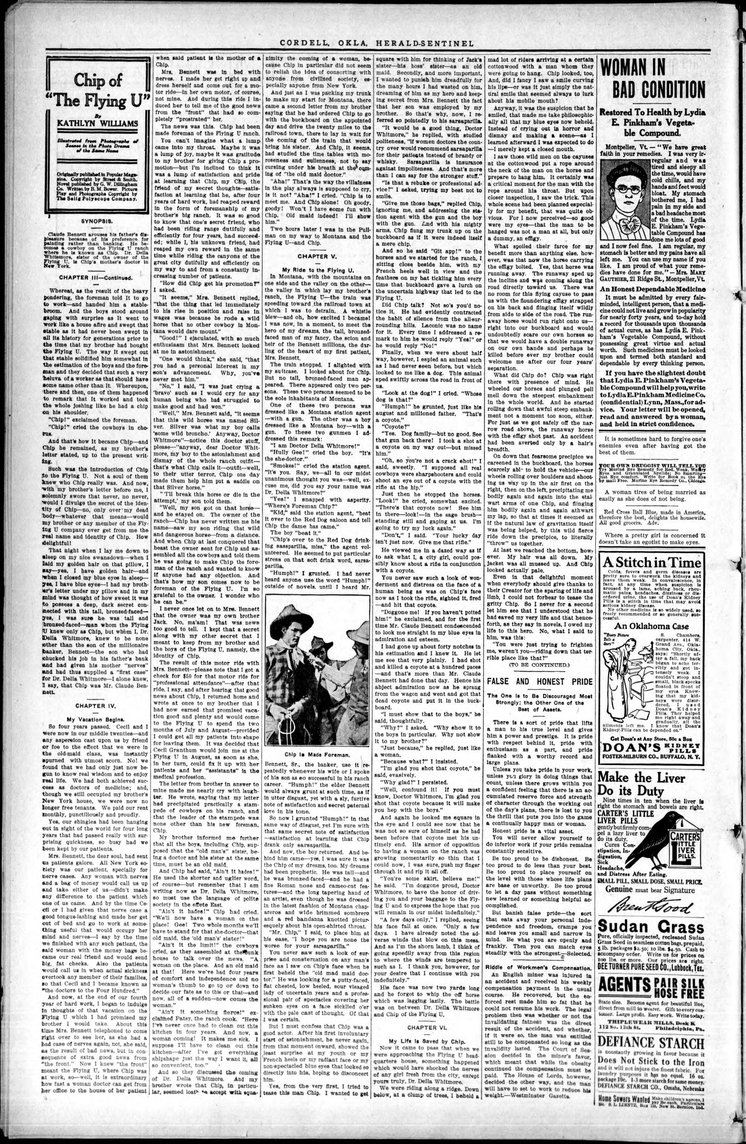 The Herald-Sentinel. (Cordell, Okla.), Vol. 22, No. 21, Ed. 1 Thursday, January 28, 1915                                                                                                      [Sequence #]: 2 of 8