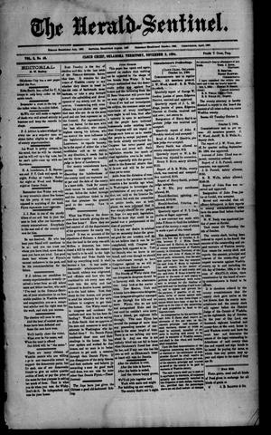 Primary view of object titled 'The Herald-Sentinel. (Cloud Chief, Okla. Terr.), Vol. 3, No. 46, Ed. 1 Friday, November 2, 1894'.