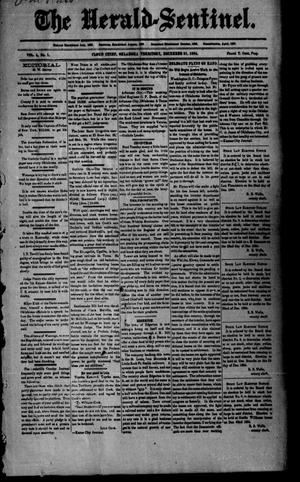 Primary view of object titled 'The Herald-Sentinel. (Cloud Chief, Okla. Terr.), Vol. 4, No. 1, Ed. 1 Friday, December 21, 1894'.