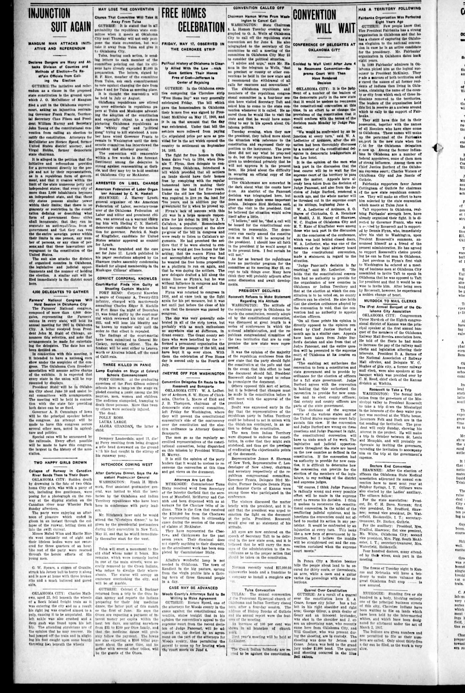 The Herald-Sentinel. (Cordell, Okla.), Vol. 15, No. 44, Ed. 1 Thursday, May 23, 1907                                                                                                      [Sequence #]: 4 of 8