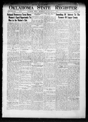 Primary view of object titled 'Oklahoma State Register. (Guthrie, Okla.), Vol. 22, No. 38, Ed. 1 Thursday, February 5, 1914'.