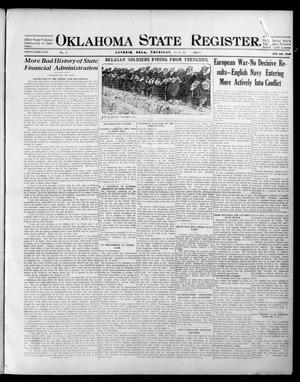 Primary view of object titled 'Oklahoma State Register. (Guthrie, Okla.), Vol. 25, No. 27, Ed. 1 Thursday, October 22, 1914'.