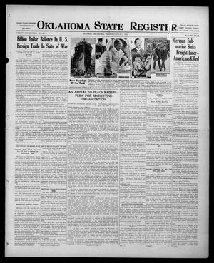 Primary view of object titled 'Oklahoma State Register. (Guthrie, Okla.), Vol. 25, No. 26, Ed. 1 Thursday, July 1, 1915'.