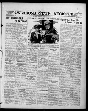 Primary view of object titled 'Oklahoma State Register. (Guthrie, Okla.), Vol. 25, No. 40, Ed. 1 Thursday, October 21, 1915'.