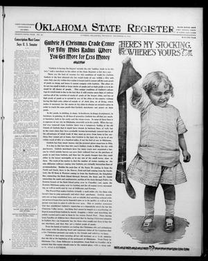 Primary view of object titled 'Oklahoma State Register. (Guthrie, Okla.), Vol. 25, No. 48, Ed. 1 Thursday, December 16, 1915'.