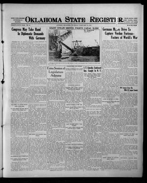 Primary view of object titled 'Oklahoma State Register. (Guthrie, Okla.), Vol. 25, No. 47, Ed. 1 Thursday, February 24, 1916'.