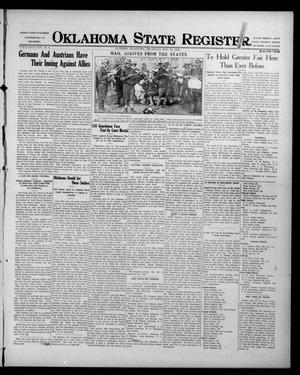 Primary view of object titled 'Oklahoma State Register. (Guthrie, Okla.), Vol. 26, No. 7, Ed. 1 Thursday, May 25, 1916'.