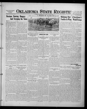 Primary view of object titled 'Oklahoma State Register. (Guthrie, Okla.), Vol. 26, No. 15, Ed. 1 Thursday, July 20, 1916'.