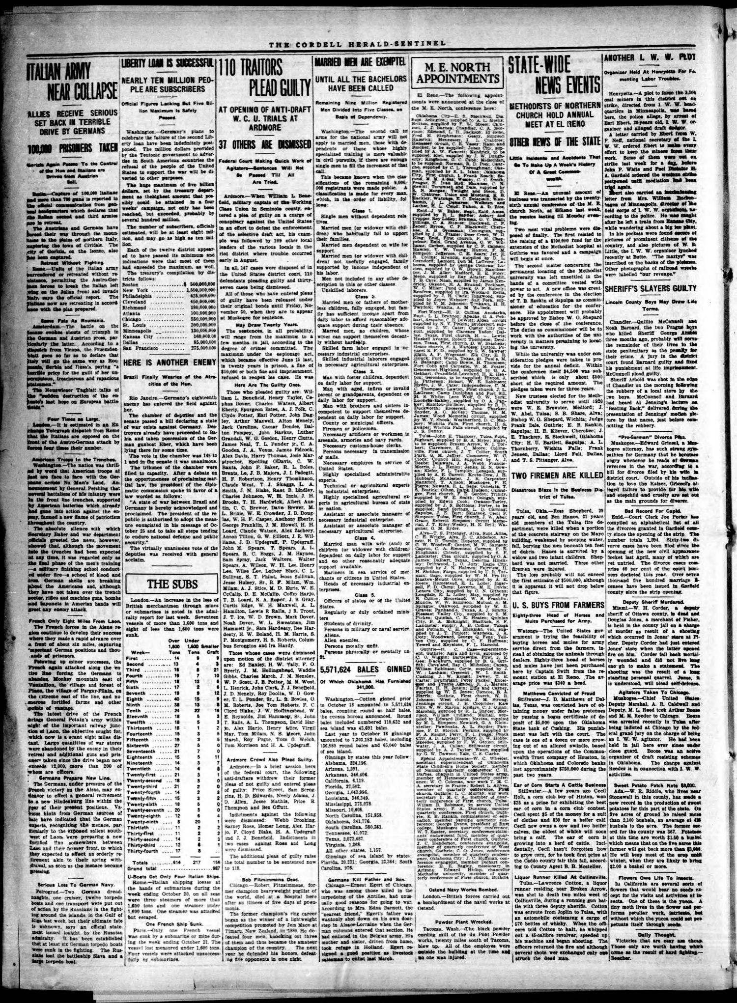 The Herald-Sentinel  (Cordell, Okla ), Vol  25, No  6, Ed  1