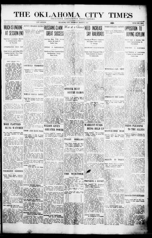Primary view of object titled 'The Oklahoma City Times (Oklahoma City, Okla.), Vol. 26, No. 277, Ed. 1 Thursday, March 4, 1915'.