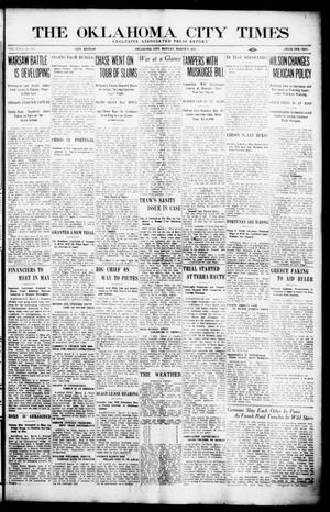 Primary view of object titled 'The Oklahoma City Times (Oklahoma City, Okla.), Vol. 26, No. 280, Ed. 1 Monday, March 8, 1915'.