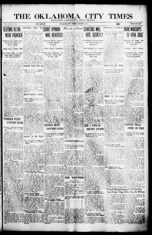 Primary view of object titled 'The Oklahoma City Times (Oklahoma City, Okla.), Vol. 26, No. 281, Ed. 1 Tuesday, March 9, 1915'.