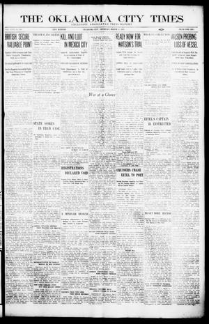 Primary view of object titled 'The Oklahoma City Times (Oklahoma City, Okla.), Vol. 26, No. 283, Ed. 1 Thursday, March 11, 1915'.