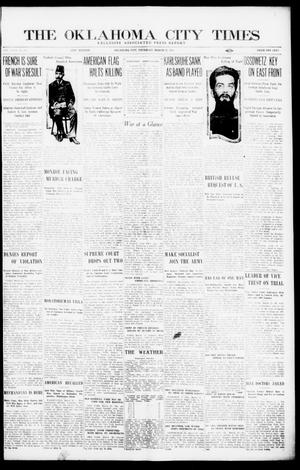 Primary view of object titled 'The Oklahoma City Times (Oklahoma City, Okla.), Vol. 26, No. 295, Ed. 1 Thursday, March 25, 1915'.