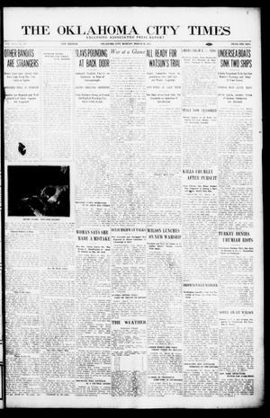 Primary view of object titled 'The Oklahoma City Times (Oklahoma City, Okla.), Vol. 26, No. 298, Ed. 1 Monday, March 29, 1915'.