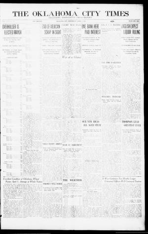 Primary view of object titled 'The Oklahoma City Times (Oklahoma City, Okla.), Vol. 26, No. 306, Ed. 1 Wednesday, April 7, 1915'.