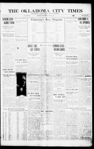 Primary view of object titled 'The Oklahoma City Times (Oklahoma City, Okla.), Vol. 27, No. 3, Ed. 1 Monday, April 19, 1915'.