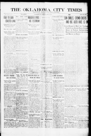 Primary view of object titled 'The Oklahoma City Times (Oklahoma City, Okla.), Vol. 27, No. 12, Ed. 1 Thursday, April 29, 1915'.