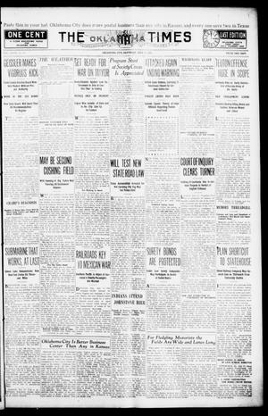 Primary view of object titled 'The Oklahoma Times (Oklahoma City, Okla.), Vol. 27, No. 80, Ed. 1 Saturday, July 17, 1915'.