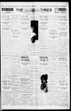 Primary view of object titled 'The Oklahoma Times (Oklahoma City, Okla.), Vol. 27, No. 105, Ed. 1 Monday, August 16, 1915'.